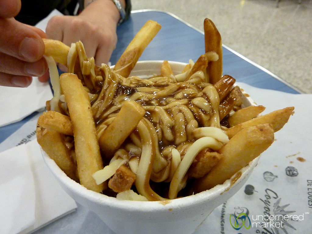 Poutine at the Toronto Airport - Canada