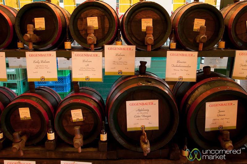 Endless Variety of Vinegars at Gegenbauer Vinegar Shop - Vienna, Austria