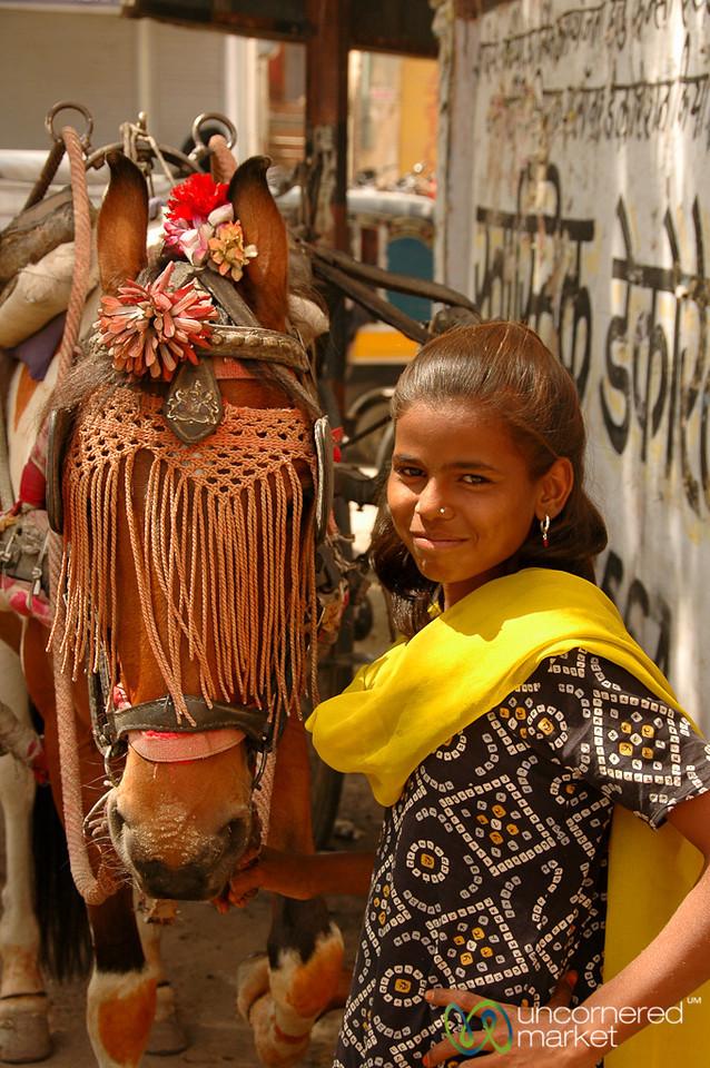 Tending the Horse - Bikaner, India