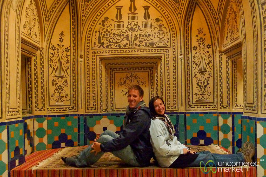 Audrey & Dan at Hamam in Kashan, Iran