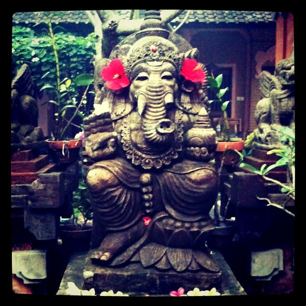 A Ganesh garden, welcome to Bali