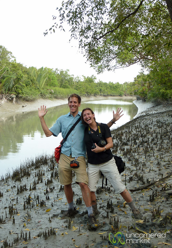 Dan and Audrey in Mangrove Forest - Sundarbans, Bangladesh