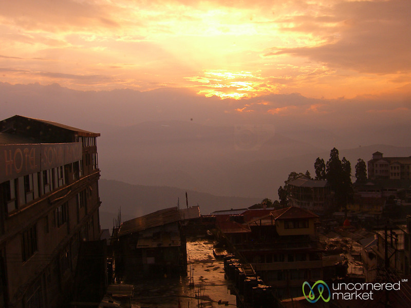 Sunset in Darjeeling, India
