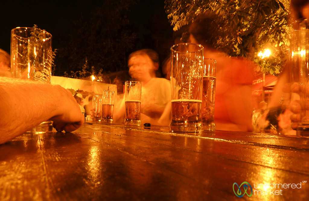 Beer Garden Action - Prague, Czech Republic