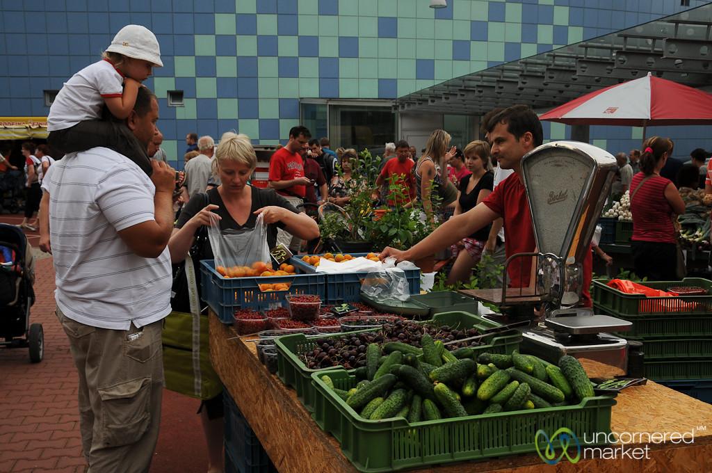 Saturday Morning at Klanovice Farmer's Market - Prague, Czech Republic