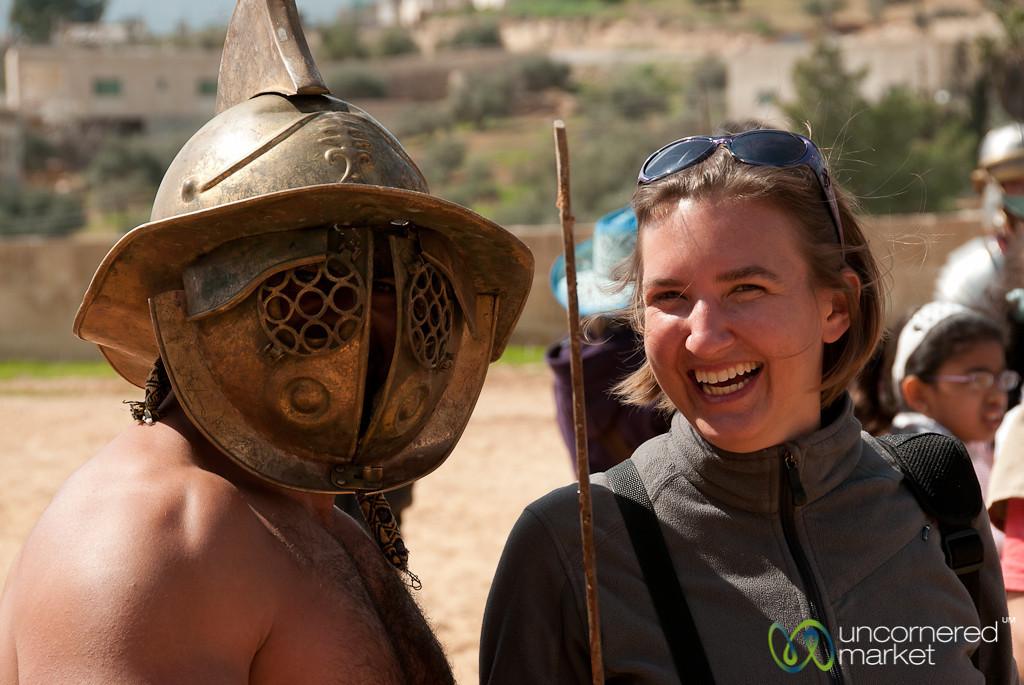 Audrey and the Gladiator - Jerash, Jordan