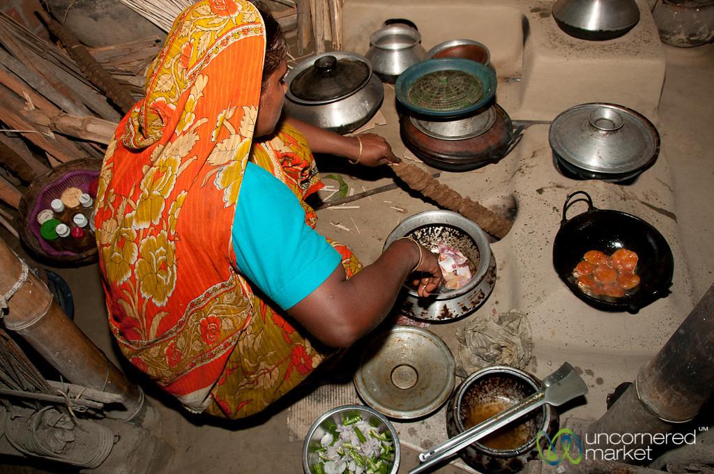 Cooking in a Traditional Kitchen - Hatiandha, Bangladesh