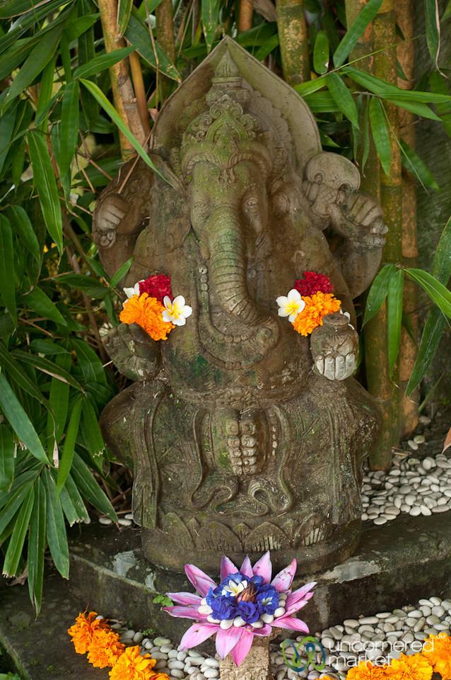 Ganesh Statue With Flowers - Ubud, Bali