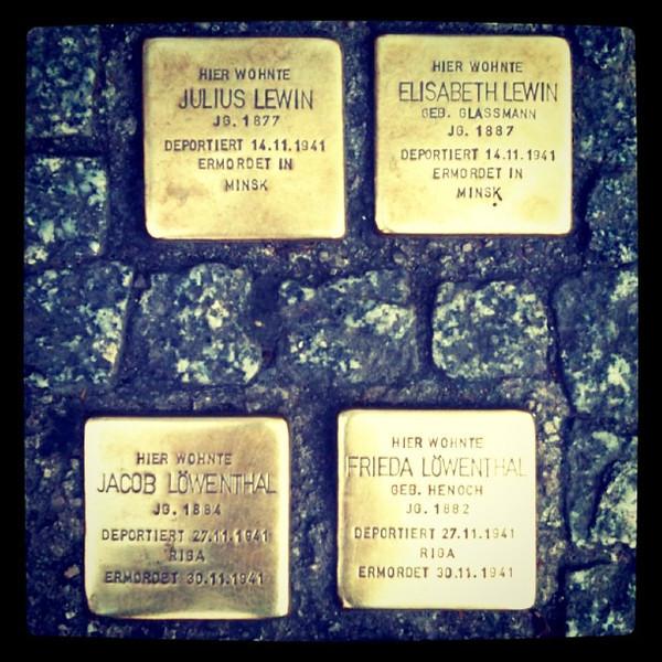 Stolperstein, Stumbling Blocks - Memorials to Holocaust Victims, #Berlin