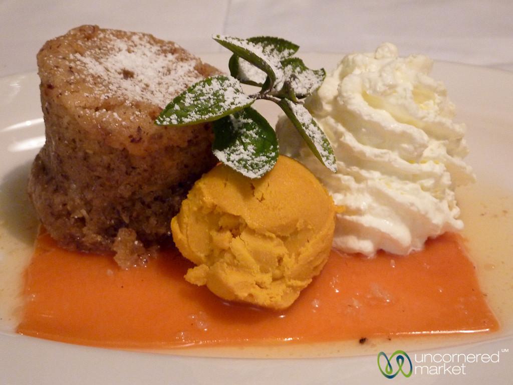 Pumpkin Cake, Ice Cream and Strip - Vienna, Austria