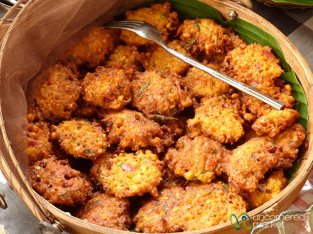 Fried Corn Cakes - Bali, Indonesia