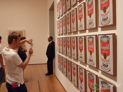 Enjoying Andy Warhol's Campbell Soup Collection at MOMA in New York City