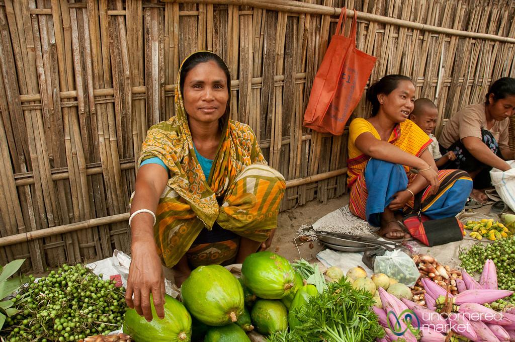 Woman Selling Vegetables at Market - Bandarban, Bangladesh