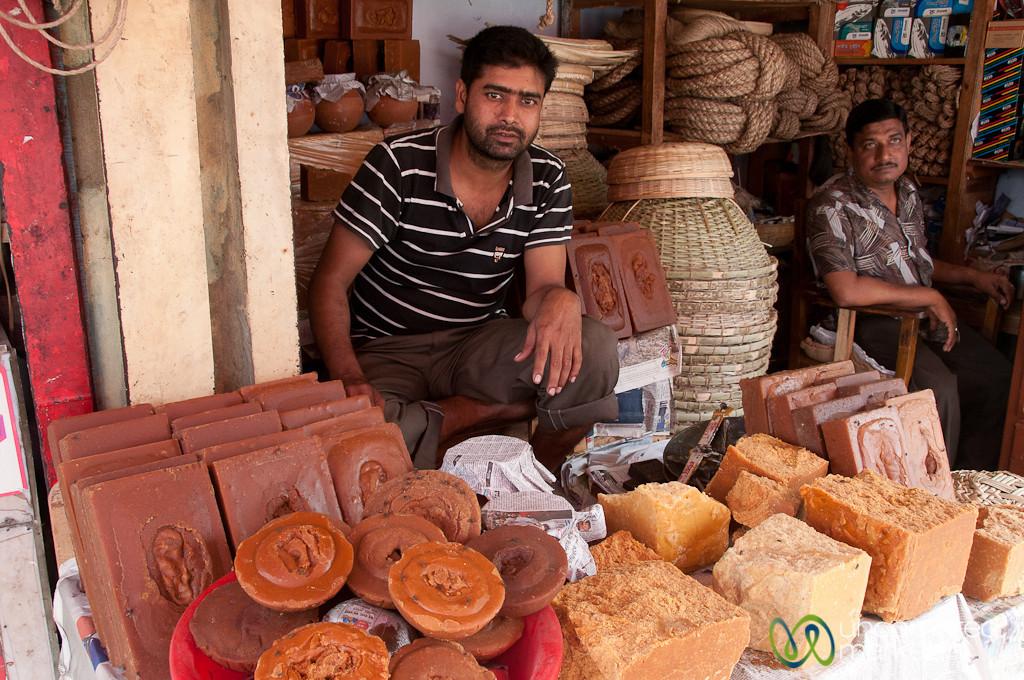 Raw Sugar Vendors at the Rajshahi Market - Bangladesh