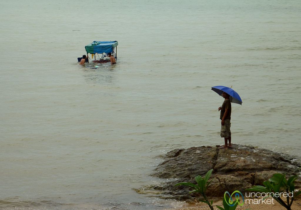 Fisherman Try to Rescue Their Boat - Koh Samui, Thailand