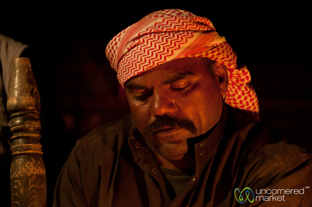 Concentrating on Preparing Arabic Coffee - Wadi Rum, Jordan