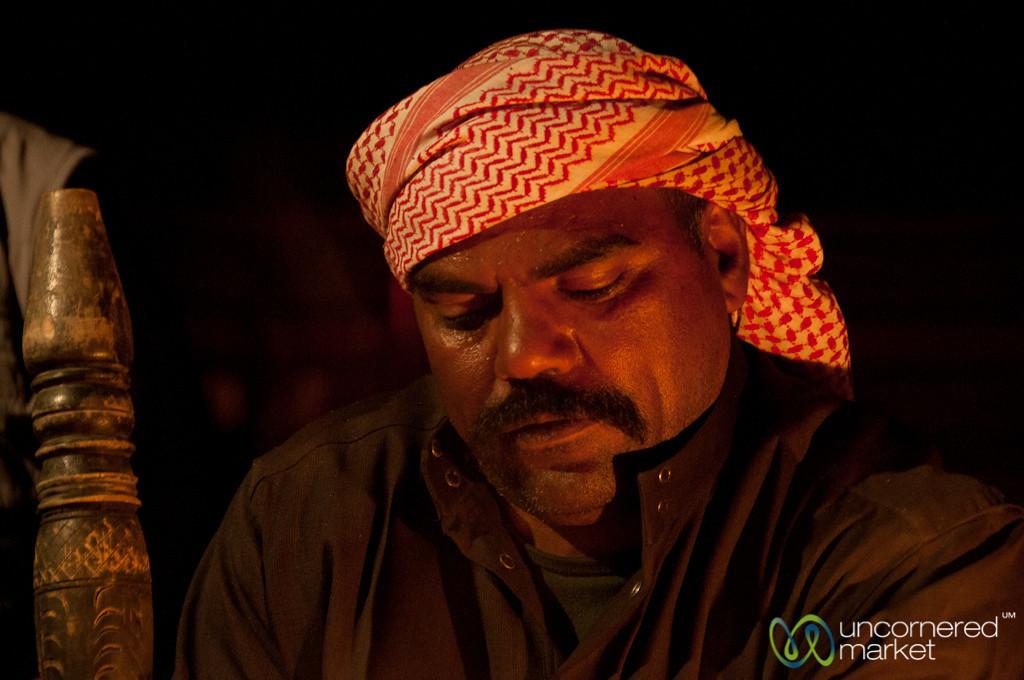 Concentrating on Preparing Arabic Coffee - Wadi Rum, Jordan
