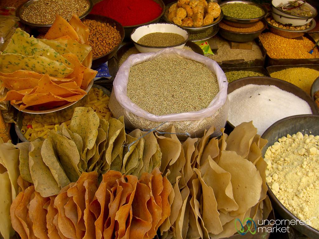 Dried Goods and Papadams - Bikaner, India