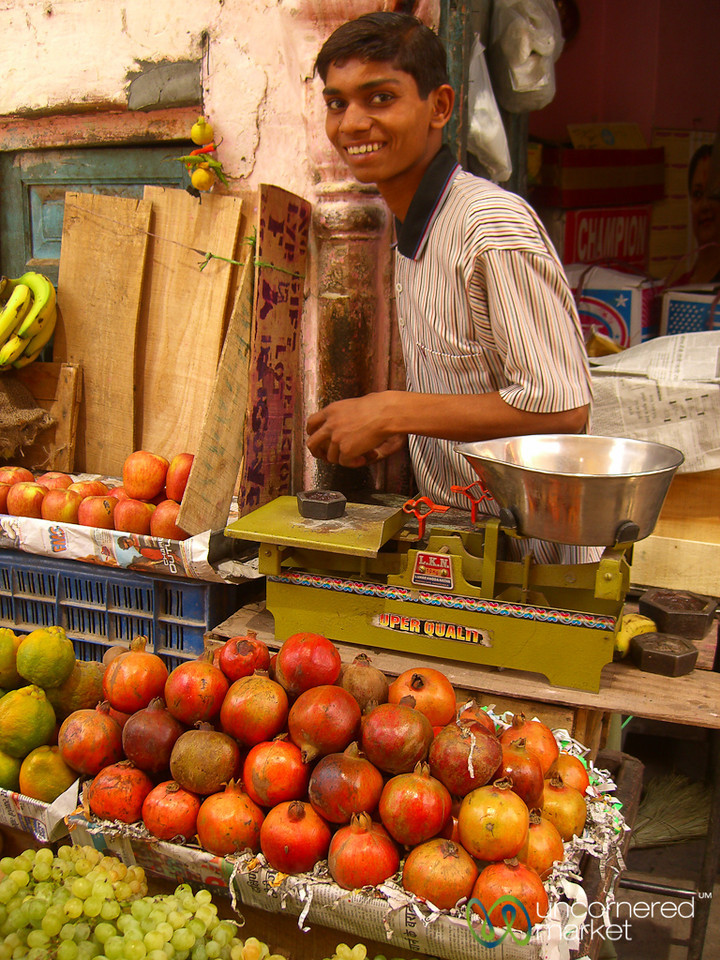 Pomegranate and Fruit Stand - Bikaner, India