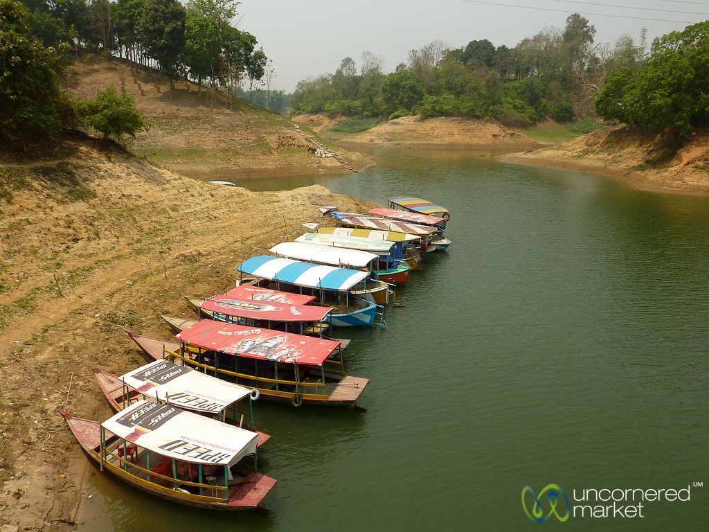 Boats on Kaptai Lake - Rangamati, Bangladesh