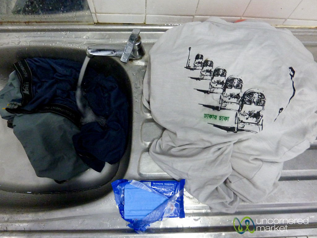 Washing Clothes by Hand - Kuala Lumpur, Malaysia