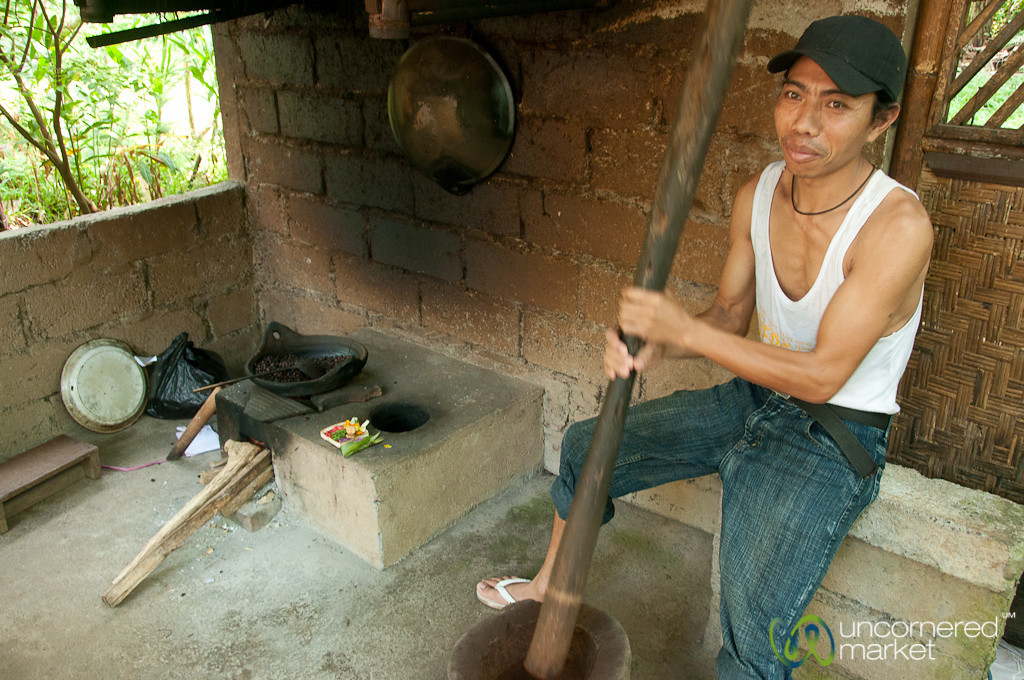 Grinding Coffee Beans - Bali, Indonesia