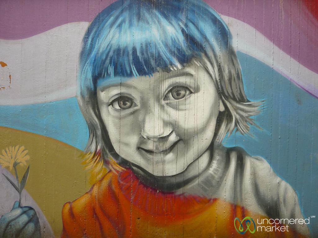 Young Girl - Street Art in Berlin, Germany