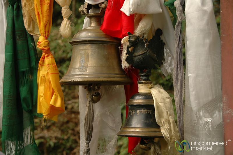 Bells and Prayer Flags - Lake Khecheopalri, Sikkim