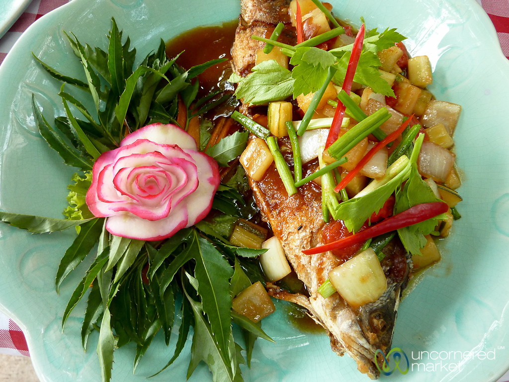 White Snapper with Fresh Sweet and Sour Sauce - Koh Samui, Thailand