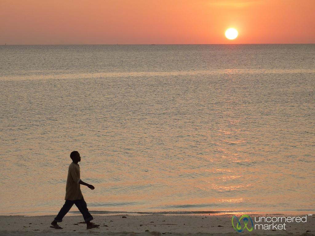 Walking Along Beach at Dusk - Kendwa, Zanzibar