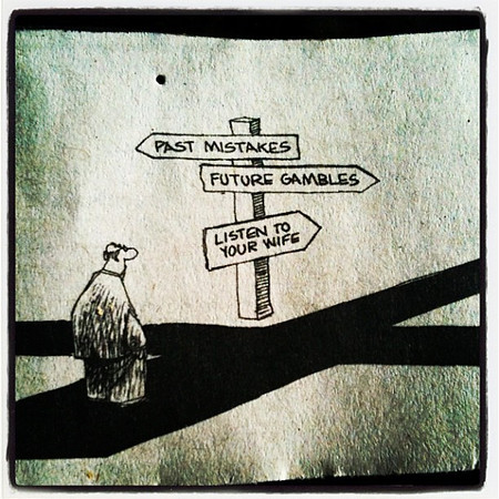 Man at Crossroads (cartoon)