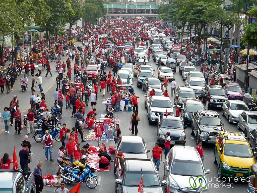 Red Shirts Rally in Bangkok, Thailand