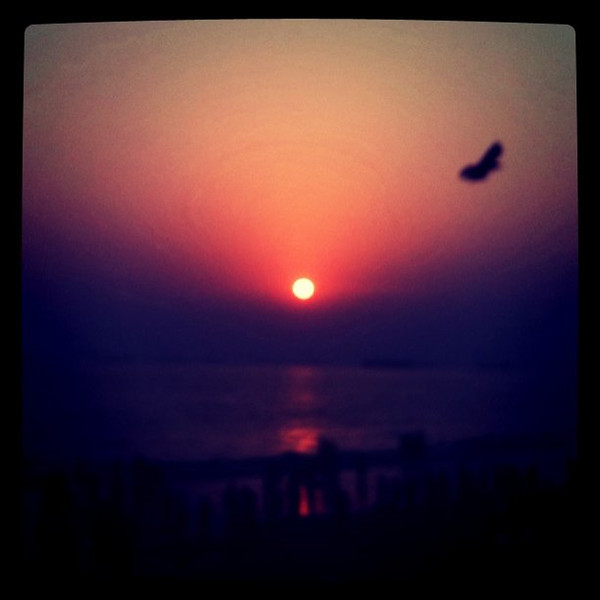New Year Sundown -- Chittagong beach, Bangladesh