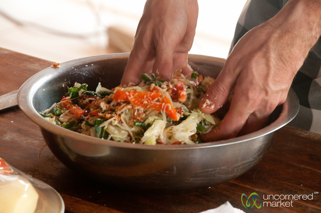 Mixing Sayur XX with Hands - Bali, Indonesia