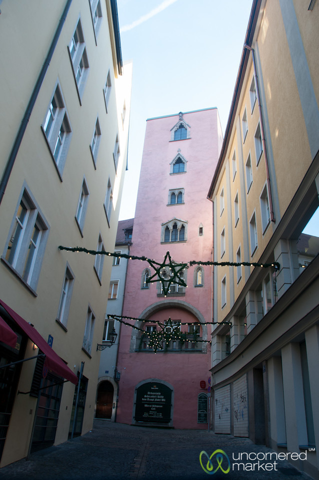 Regensburg Street Scene  - Bavaria, Germany