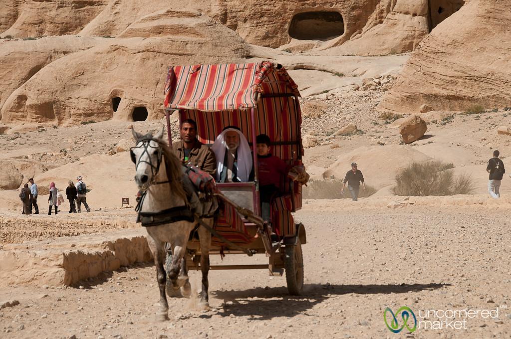 Taking a Carriage through Petra - Jordan