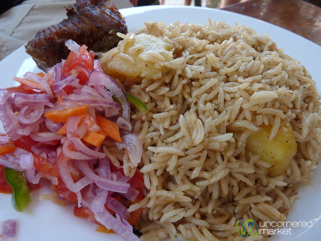Pilau with Tuna Fish - Stone Town, Zanzibar