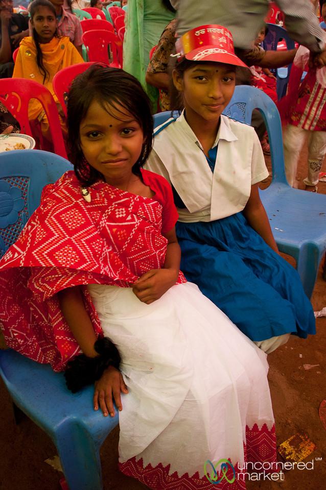 Girls Dressed Up for Bangla New Year - Rangamati, Bangladesh