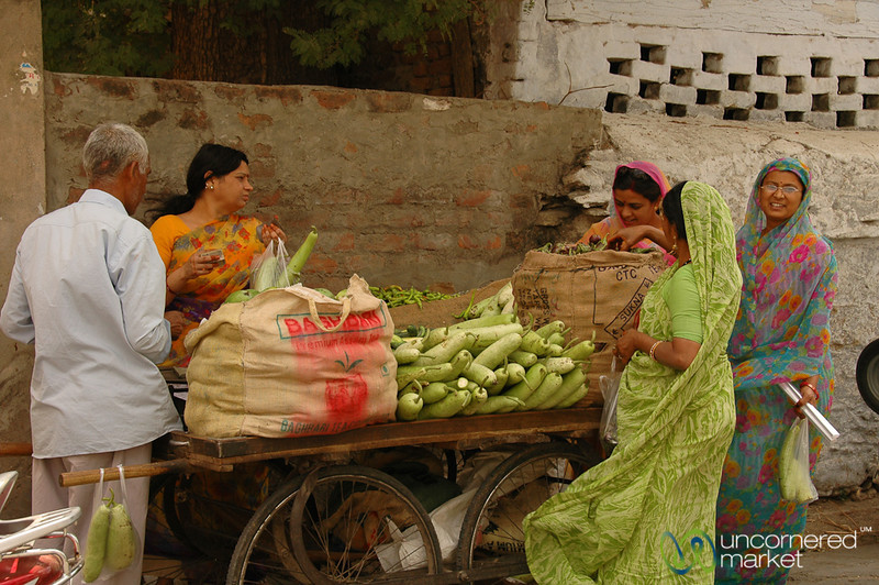 Vegetable Stand on the Streets of Udaipur, India