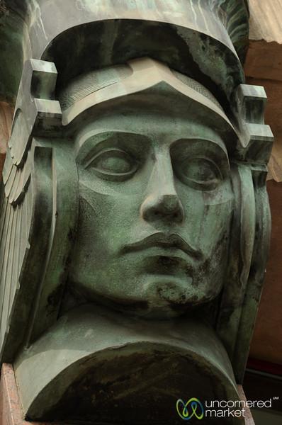 Art Nouveau Stoic Face -  Prague, Czech Republic