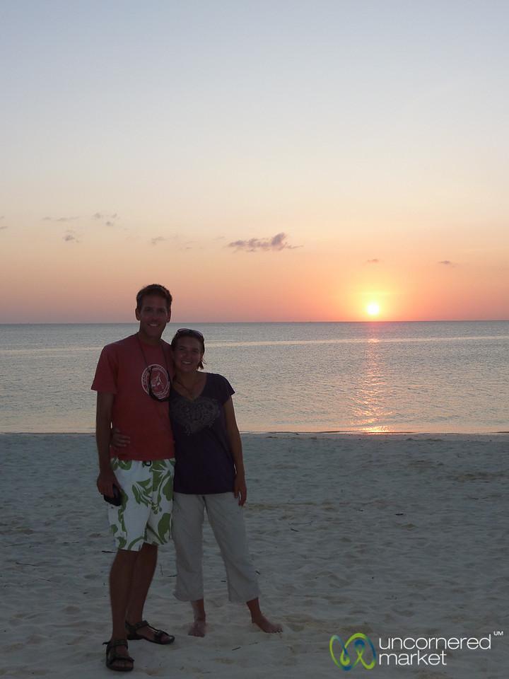Dan and Audrey at Sunset - Kendwa Beach, Zanzibar