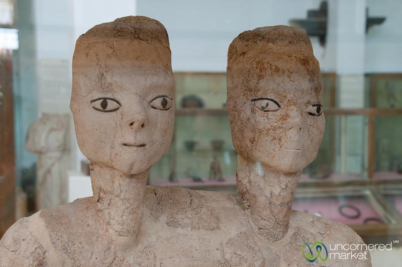 Lifelike Ancient Statues at Citadel Museum - Amman, Jordan