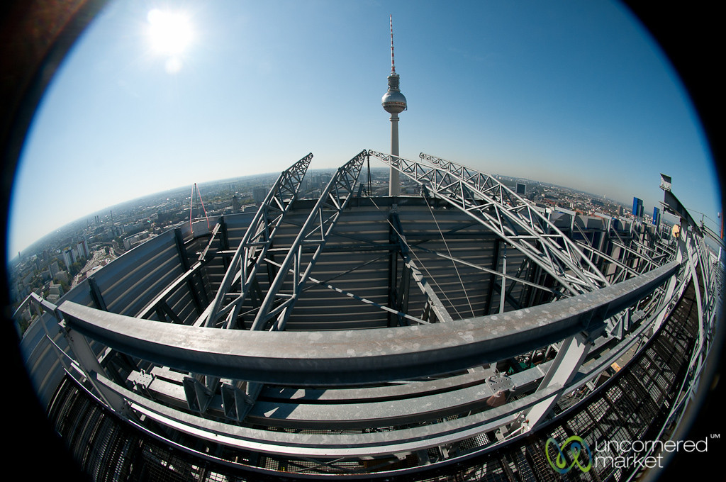 Fisheye View from Top of Park Inn - Berlin