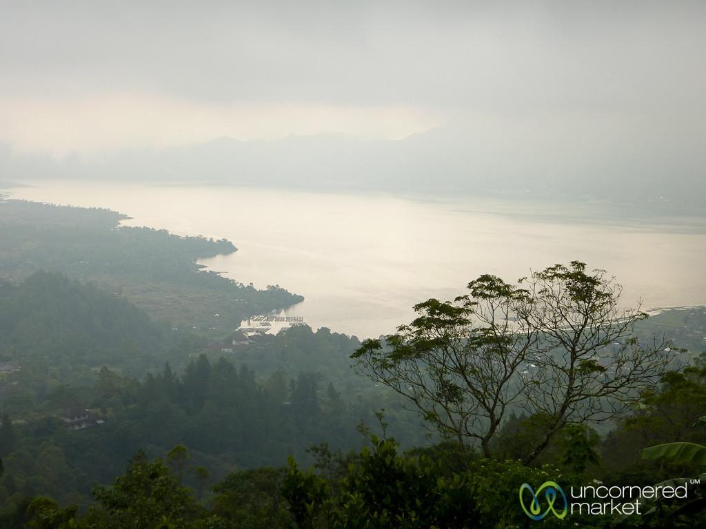 Looking Down at Lake Batur - Bali, Indonesia