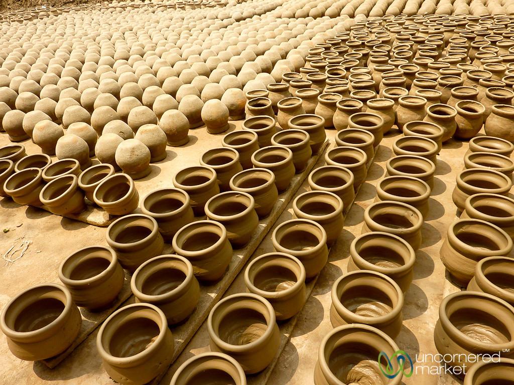 Ceramics Drying in Sun - Najirpur, Bangladesh