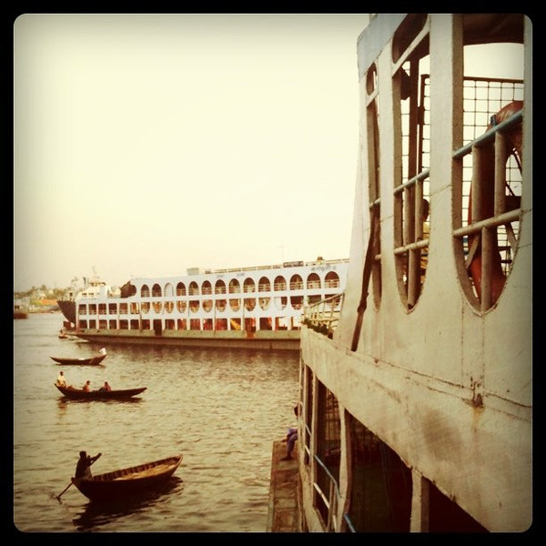 Evening scene on the Buriganga River, Dhaka #bangladesh