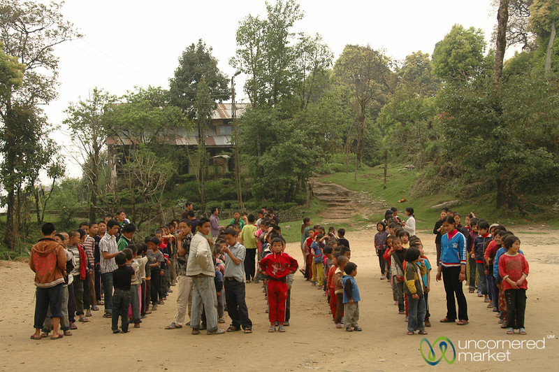 Lining Up for Roll Call - Pelling, Sikkim