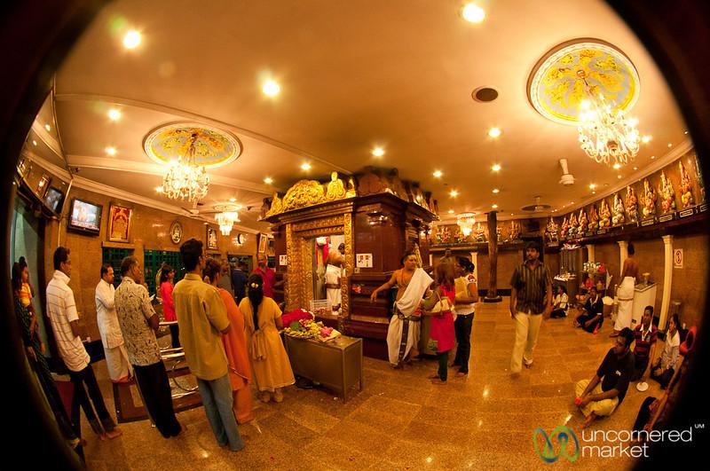 Evening Puja (Prayers) at Sri Ganesar Court Hill Temple - Kuala Lumpur, Malaysia