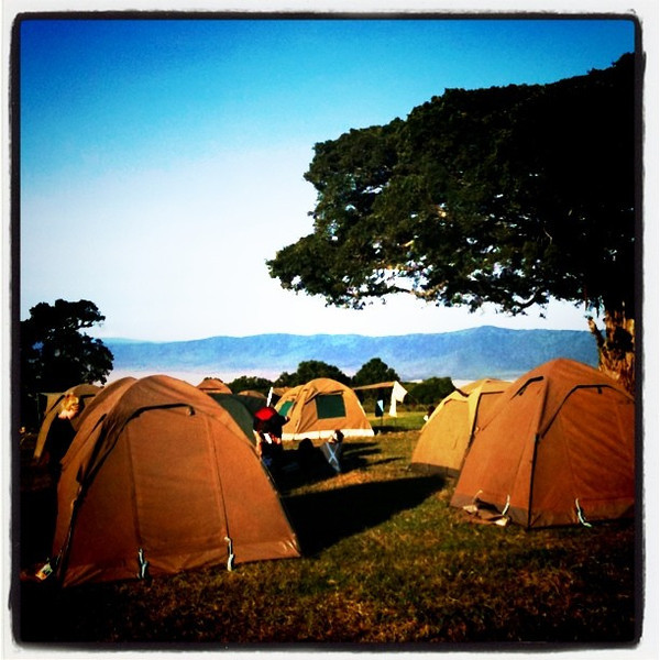 Camping on the rim of Ngorongoro Crater - Tanzania