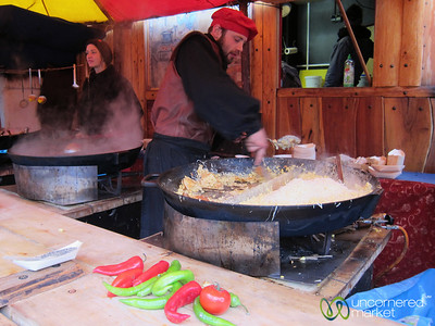 Spätzle Time at the Esslingen Christmas Market - Germany